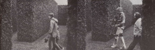 Garrett Brown sur le tournage de SHINING, avec Stanley Kubrick